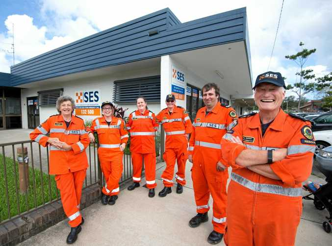 STRONG IN A CRISIS: Bill Roffey and the Coffs Harbour SES crew.