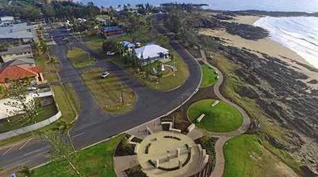 Aerial view of sites for the Emu Park Village and Foreshore Revitalisation Project.