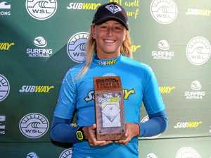 Tweed teen continues rapid rise with junior surfing title