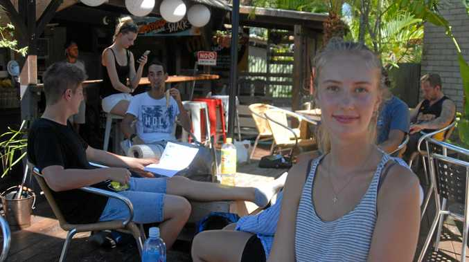 WAY TO GO: Denmark backpacker Agnes Jonnson is one of the many international visitors flocking to Noosa.
