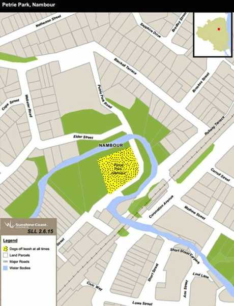 PLANS: The proposed new dog off-leash area at Petrie Park, next to the aquatic centre redevelopment.