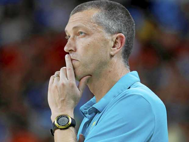 Andrej Lemanis coaching Australia at the 2016 Olympics in Rio.