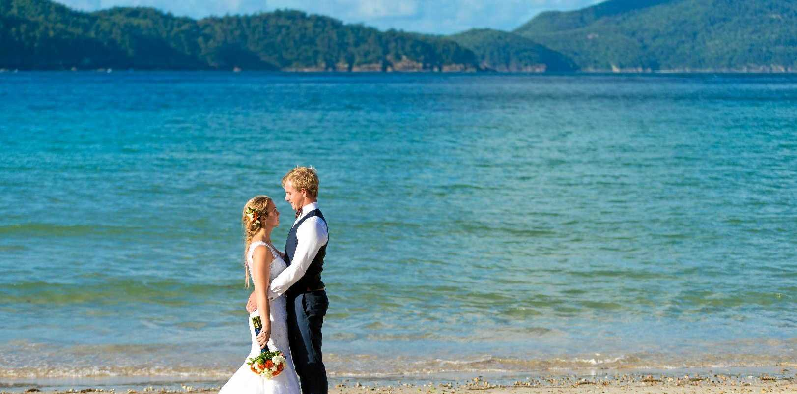 Melissa and Aaron Wade were married on Hamilton Island in April last year.