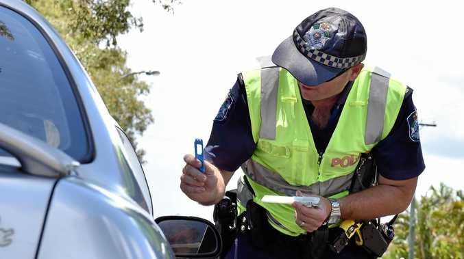 Police drug testing drivers.