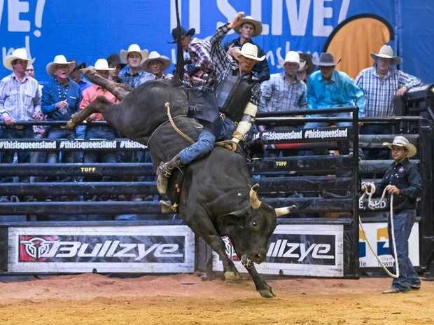 Ayr bullrider Budd Williamson loves his sport. He is competing in the PBR circuit and looking forward to a bullride in Cairns.