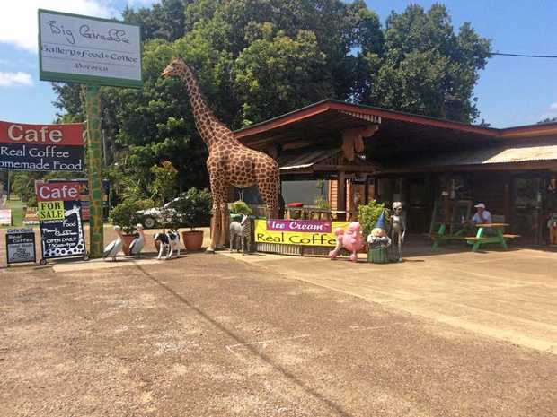 The Big Giraffe Cafe in Bororen is for sale.