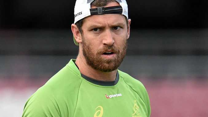 Luke Morahan during a Wallabies training session in Brisbane.