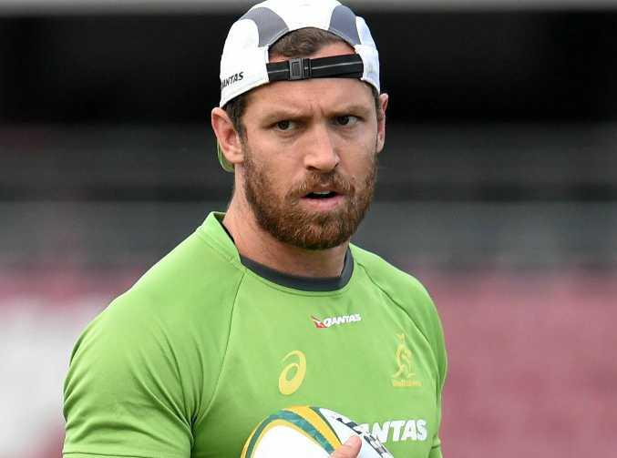 Luke Morahan during a Wallabies training session in Brisbane.