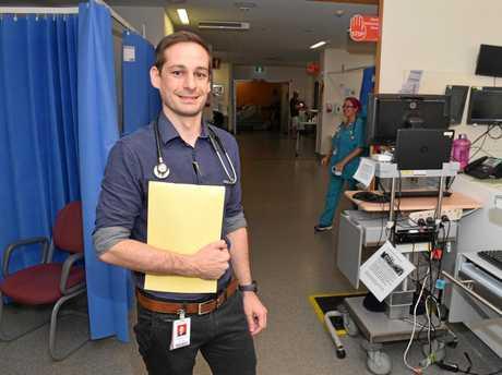 Ipswich Hospital's Emergency Department Director, Dr Cade Grima.
