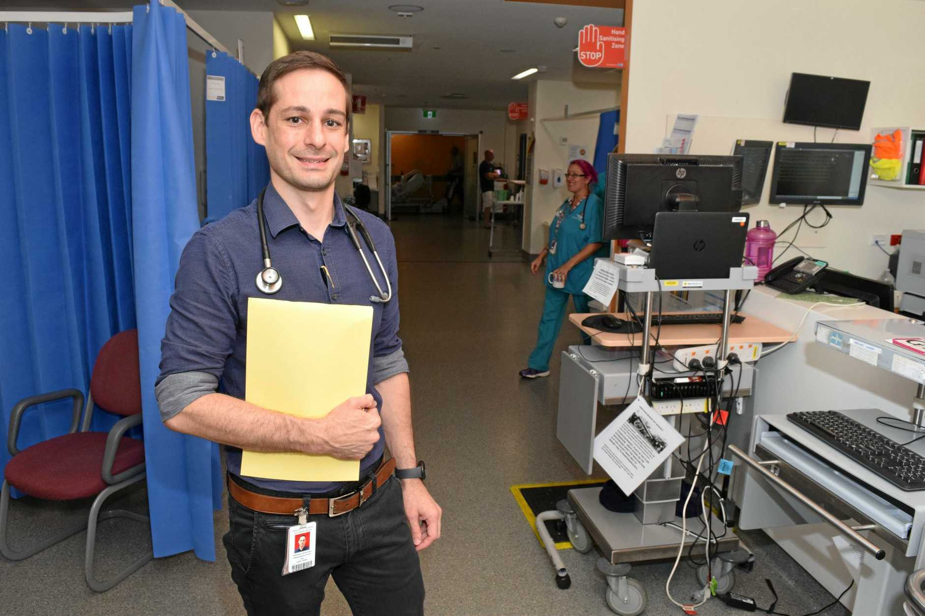Ipswich Hospital's Emergency Department Director, Dr Cade Grima.