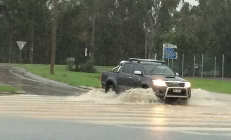 Flooding on Tanby Rd, Yeppoon.