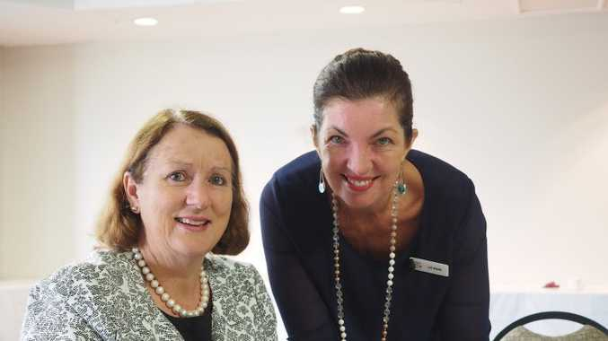 Tourism Tribe CEO Liz Ward gives Wendy Allen from Hampton Festival some tips at SQCT's Digital Ready Workshop.