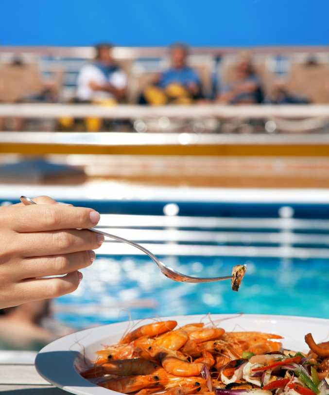 Fancy some fresh prawns by the pool?