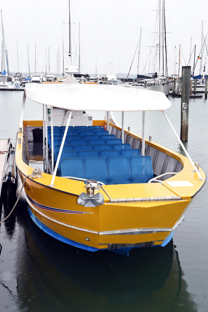 A water taxi to Fraser Island's Kingfisher Bay will now depart from the marina every Friday, Saturday and Sunday.