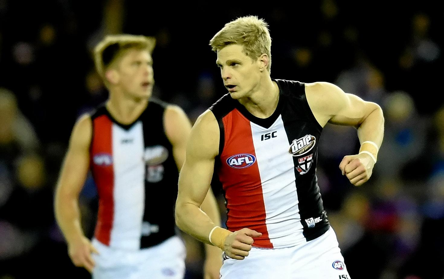 Nick Riewoldt has relinquished the Saints' captaincy.