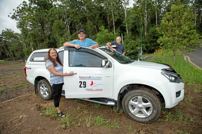 Beyond Bitumin rally entrants, mum Robyn Jones, David Jones and father-in-law Mark Wallace.
