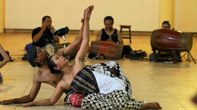IN HARMONY: Dancers will perform Bedoyo Pager Bumi (Celestial Gates of Mother Earth) at the Byron High School performance Space on Harmony Day.