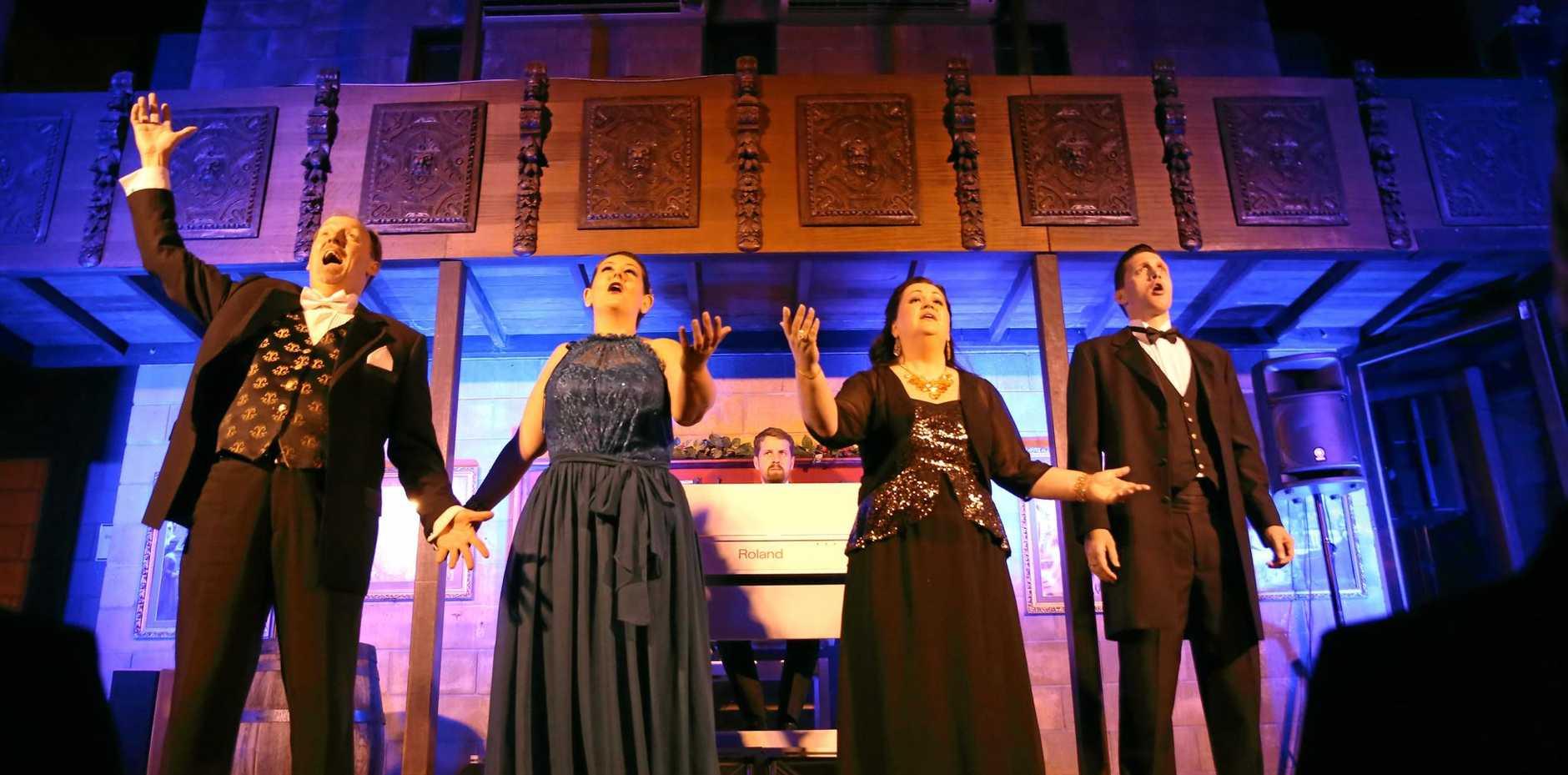 Opera in the Castle at Bli Bli with the Underground Opera Company stars.