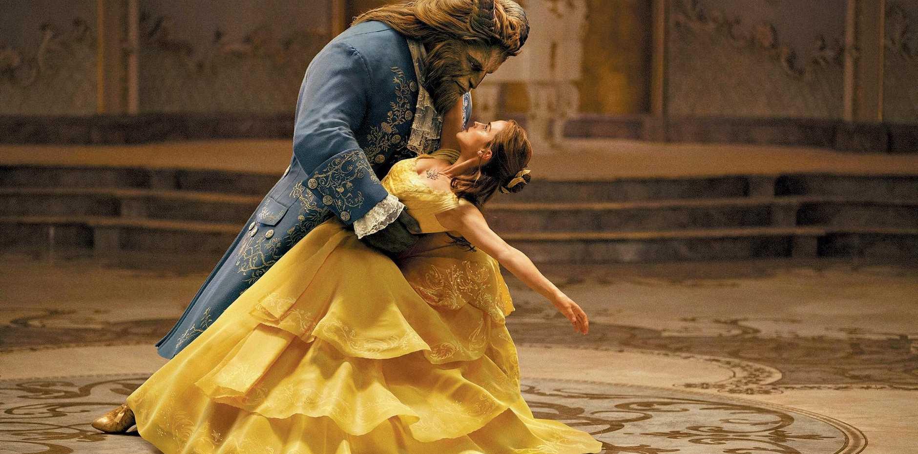BIG BUCKS: Emma Watson and Dan Stevens star in the movie Beauty and the Beast.