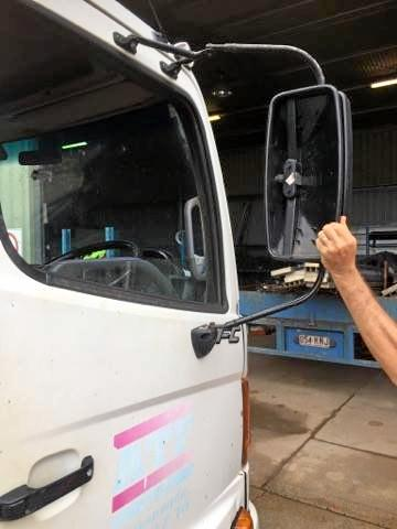 TOO NARROW: Gympie truck driver Stuart Horsfall had his mirror smashed on Pengelly's Bridge when he was passing another truck.