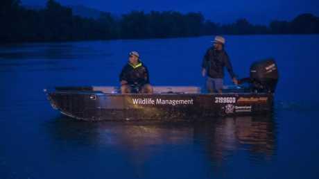 Rangers hunt crocodile that claimed the life of Warren Hughes.