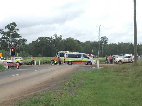 Emergency services are at the scene of a traffic crash at Lockyer Valley this morning.