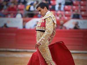 Disturbing images: Bull sticks 29cm horn up matador's butt