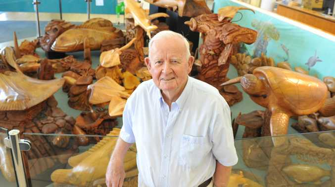 Acclaimed artist Arthur 'Nobby' Clark said his collection of wood carvings located at council's Bargara offices were not being preserved correctly.