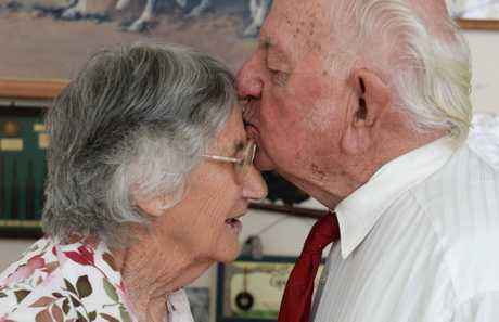 Kev and Enid Peters are celebrating their 65th wedding anniversary.Photo: Contributed