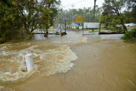 UNDER WATER: The Gladstone region has been inundated with rain which has caused flash flooding in some areas in town.