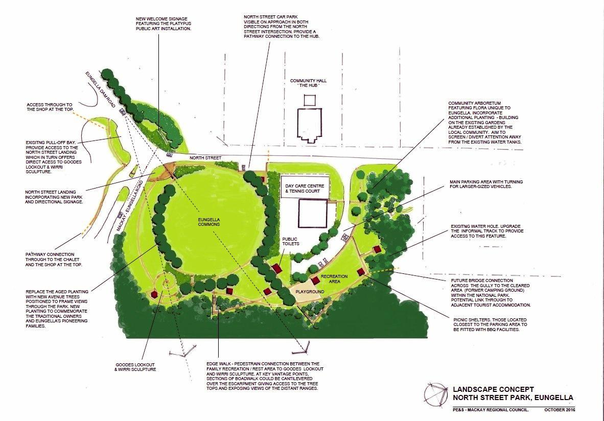 Upgrades to Eungella North Street Park will boost tourism in the area.