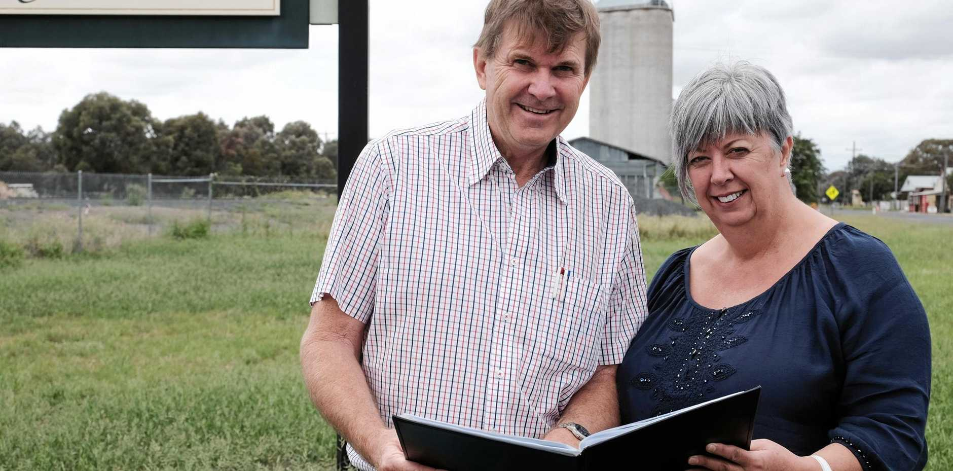 EXCITING TIMES: Developers Peter Byrnes and Anthea Nicholas have unveiled their plans for Brigalow.