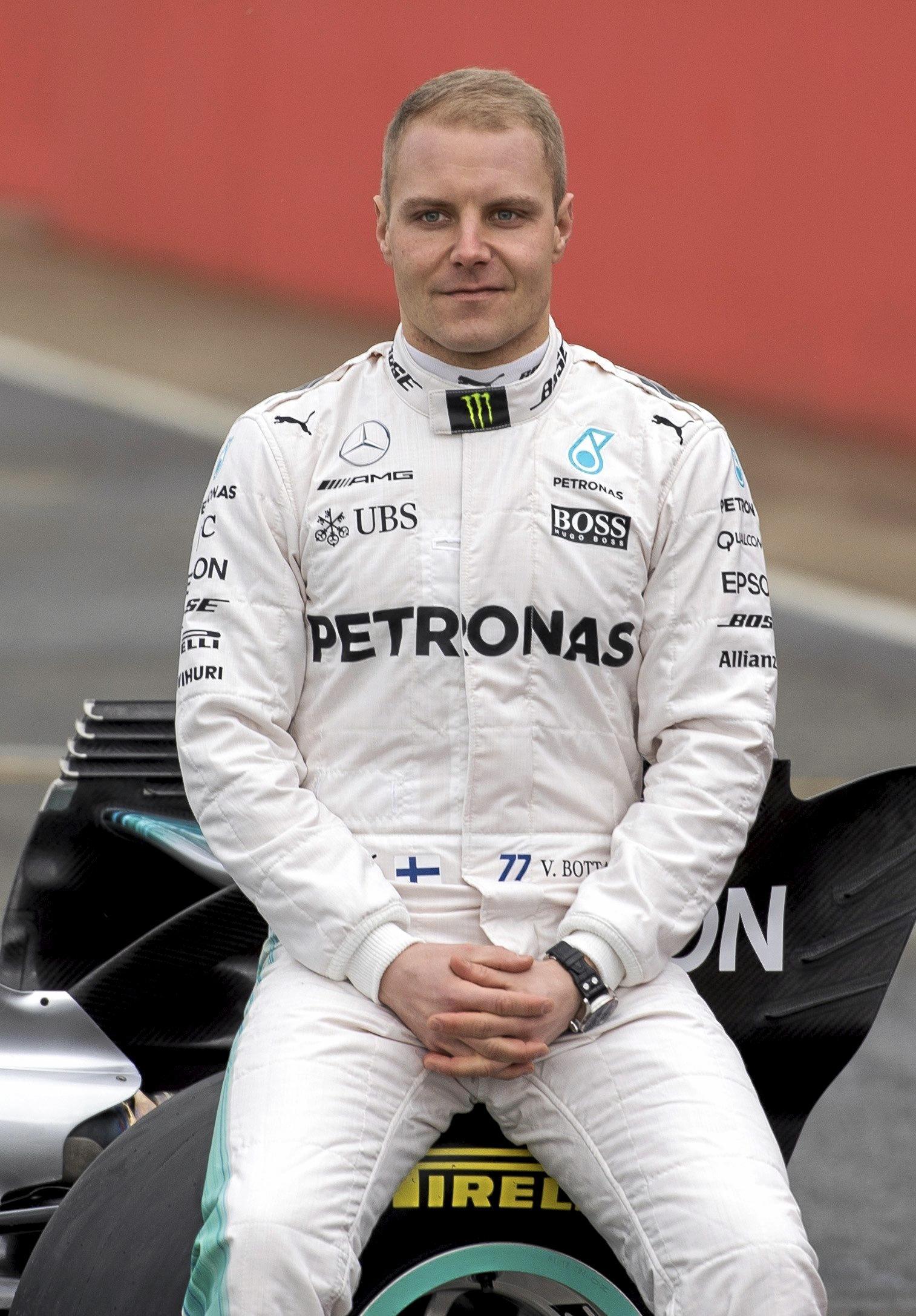Mercedes driver Valtteri Bottas.