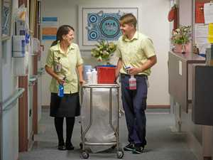 Kathy and Josh clean up with patient surveys