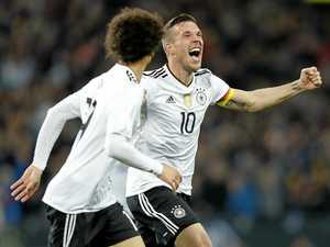 Sensational Podolski swansong ensures England defeat