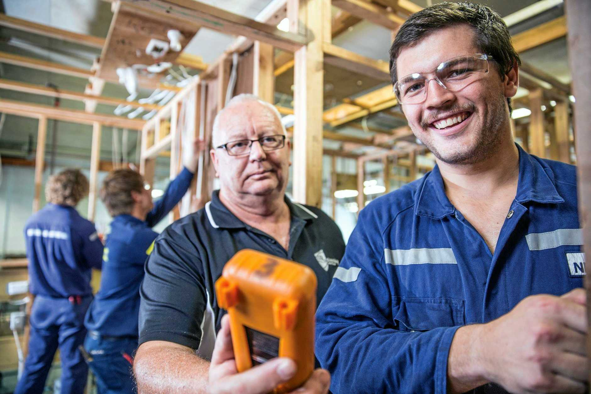 CQUniversity's Mackay campus accommodates apprentices in areas such as engineering, electrical and construction.