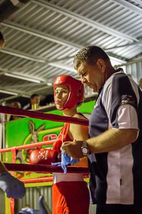 Rileigh Audet is aiming to  box in Queensland titles by the end of the year with her coach and uncle, Mick Daly.
