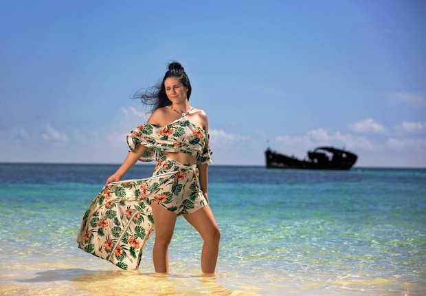 Rileigh Audet fights in the ring during the week and models on tropical islands on weekends.