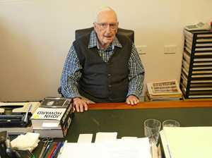 LOOKING BACK: Former Member for Cowper and Page Ian Robinson at his desk.
