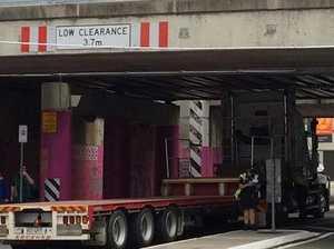 Bridge strike on Queensland train line