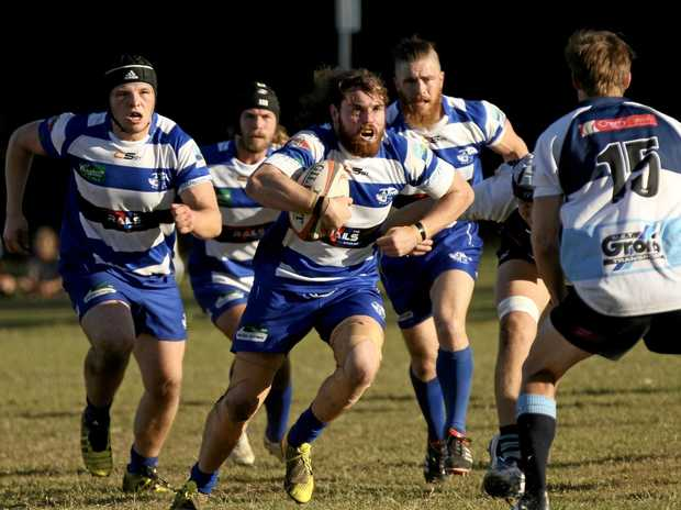 HOME GAME: Byron Rugby's Craig Wallace on the rampage last season.