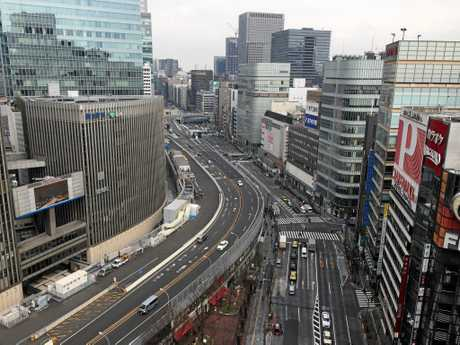 Tokyo's Ginza district, which is famous for shopping.