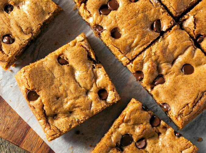 Brown sugar gives these blondies a delicious caramel flavour.