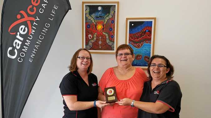 HAPPY AND WELL:Carexcell Carers give award to Aunty Carol Mills.