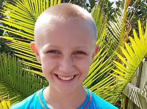 A very public shave for 10-year-old Bella