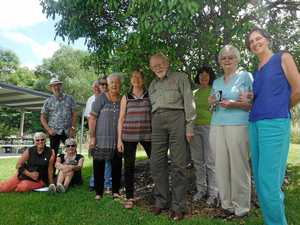 GARDEN TOURS: Kate Heffernan, seated far left, with Friends of the Gardens at a recent guide training day.