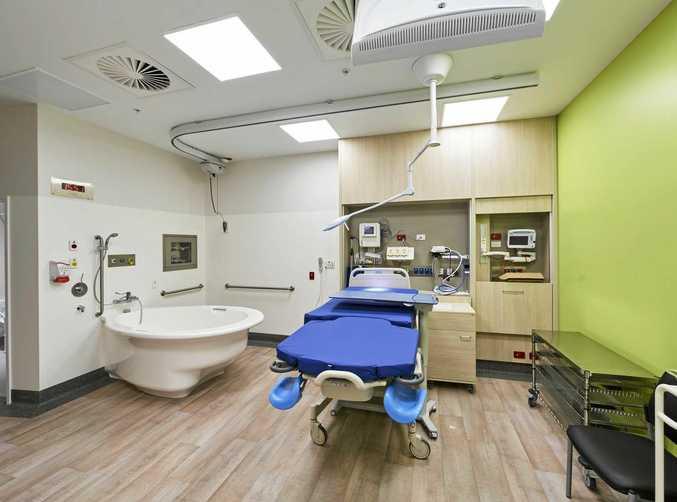 Women and children area - birthing suite on level four, Sunshine Coast University Hospital.