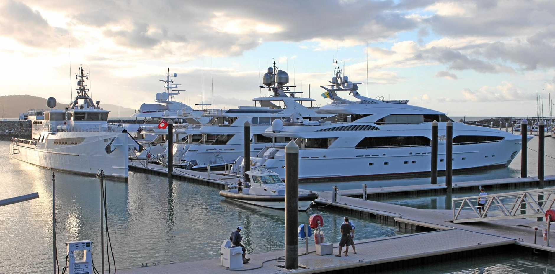 State treasurer Curtis Pitt will push to cut red tape that restricts superyachts operating in Australia.