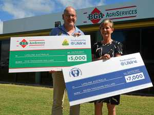 Businesses donate $12,000 for mental health support
