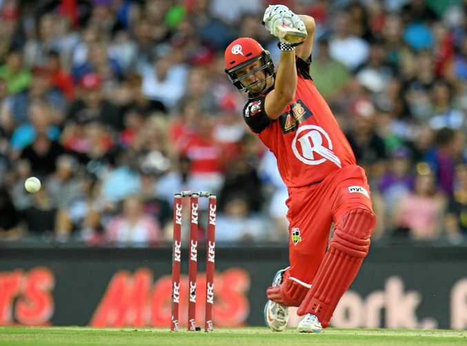 Cameron White playing for the Renegades in the Big Bash League.